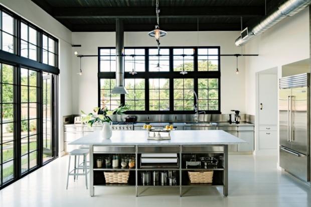 black-and-white-kitchen
